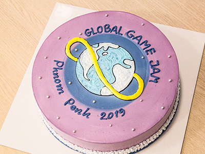 Global Game Jam Phnom Penh 2019 Cake